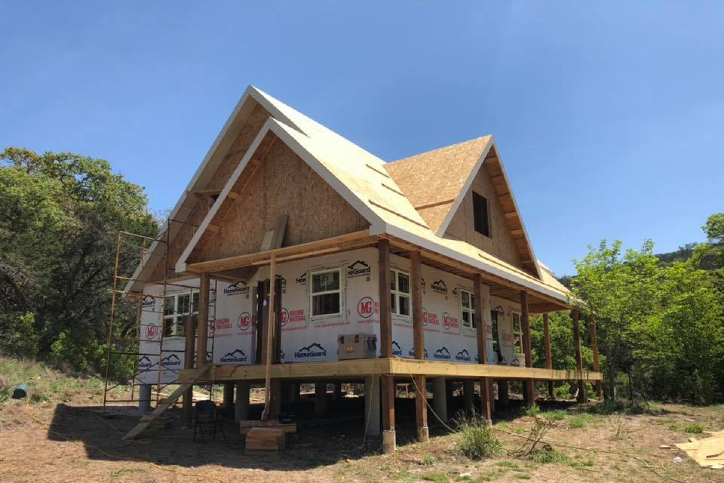 Construction process of a custom home built by Ideal Place in Uvalde, TX
